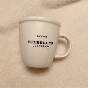 2002 Starbucks Mini Espresso Demitasse White Mug